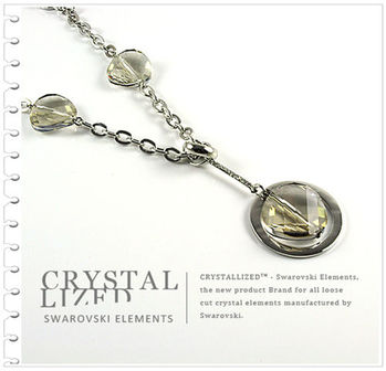 新光飾品-金色魅影狂潮韓版水晶毛衣鏈