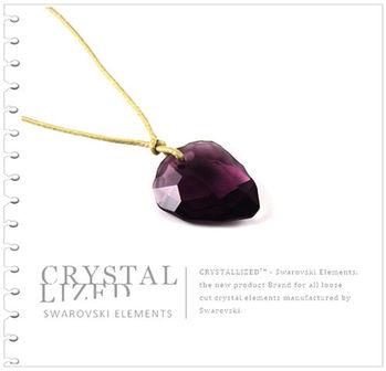 新光飾品-紫粉佳人水晶項鏈