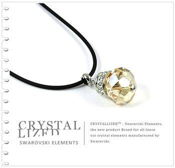 新光飾品-金色魅影多情葫蘆絲水晶項鏈