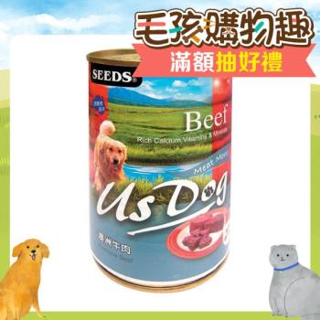 【SEEDS】聖萊西 US DOG愛犬機能餐罐-牛肉400g X 24入