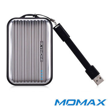 MOMAX摩米士 8400mAh iPower Go Mini 商務型行動電源(銀)