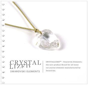 新光飾品-白粉佳人水晶項鏈