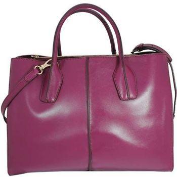TOD'S 小牛皮D-BAG 兩用手提斜揹包-紫紅色