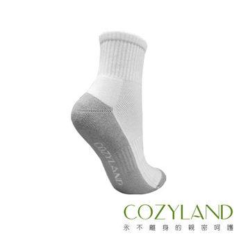 【COZYLAND 頂級除臭機能襪】★潔淨學生襪(白與灰)