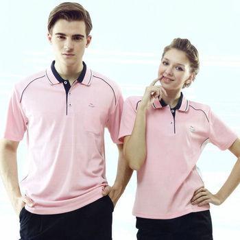 【Per GIBO】吸溼排汗女版短POLO衫(PK142581)粉紅