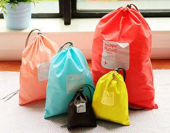 多功能收納束口袋 旅行收納袋 萬用收納袋 雜物袋 運動收納袋 游泳分類袋 4件組