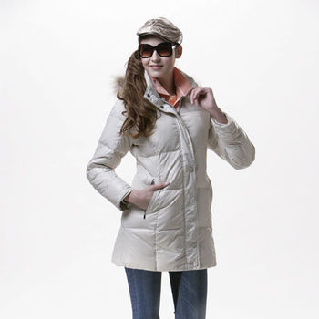 【SAIN SOU】超保暖羽絨+可拆式防風帽外套加贈造型短襪x1雙 T17102