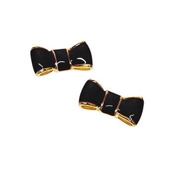 【KATE SPADE】黑色可愛氣質蝴蝶結耳環