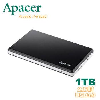 Apacer 宇瞻 AC330 1TB USB 3.0 金屬霧面 2.5吋行動硬碟-爵士黑