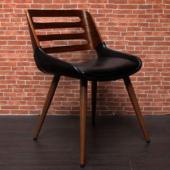 【H&D】DELOIN德朗木作皮革單椅/餐椅-(三色)