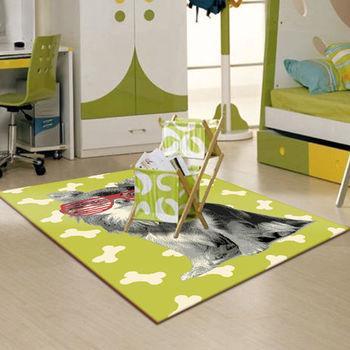 【范登伯格】萊西活潑俏皮地毯-時尚狗(綠)-120x170cm