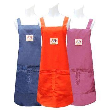 獵犬織標四口袋圍裙-二入任選CC527