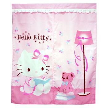Hello Kitty抱熊中門簾83x97cm(KT0405)