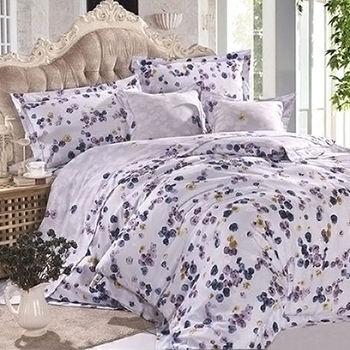 【Betrise鬱朵花開】雙人100%天絲TENCEL四件式鋪棉兩用被床包組