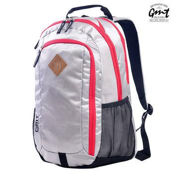 【GMT挪威潮流品牌】專業電腦背包 灰色,附15吋筆電夾層;豬鼻包/旅遊包/後背包/電腦包