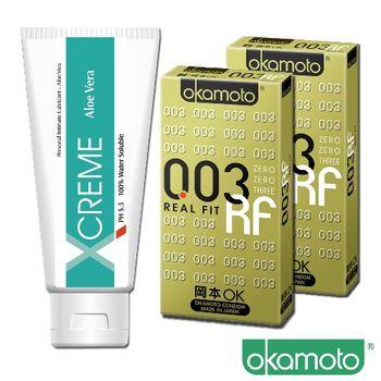 岡本okamoto 003 RF極薄貼身 6片裝x2 + 蘆薈潤滑液x1