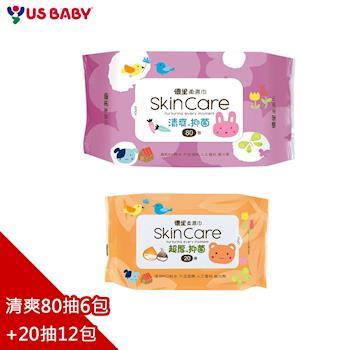 優生嬰兒柔濕巾清爽型80抽6包+超厚20抽12包