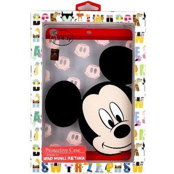 【Disney迪士尼】iPad Mini Retina /iPad Mini 2 大頭系列彩繪透明保護軟套-米奇