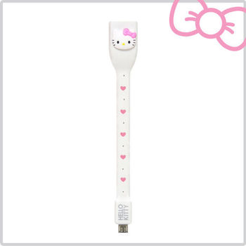 Hello Kitty 行動OTG USB 傳輸線-甜心白 (KT-OTG01P1)