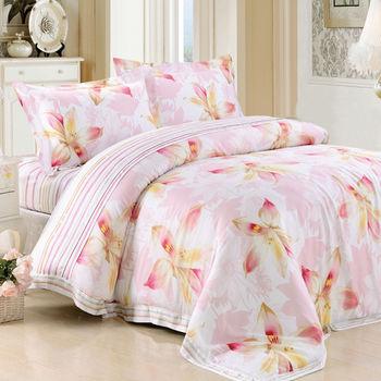 【Betrise千語千尋】頂級雙人100%天絲TENCEL四件式鋪棉兩用被床包組