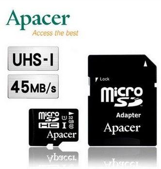 Apacer 宇瞻 32GB MicroSDHC UHS-I Class10 記憶卡--五入組