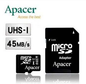 Apacer 宇瞻 64GB MicroSDXC UHS-I Class10 記憶卡-五入組