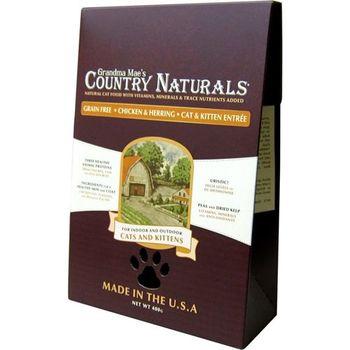 【Country Naturals】格然斯 雞肉鯡魚 無穀成幼貓配方 12磅 X 1包