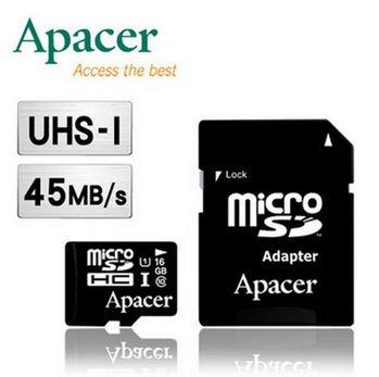 Apacer 宇瞻 16GB MicroSDHC UHS-I 記憶卡--五入組