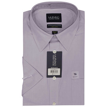 【MURANO】美式適感滿分短袖商務襯杉 紫
