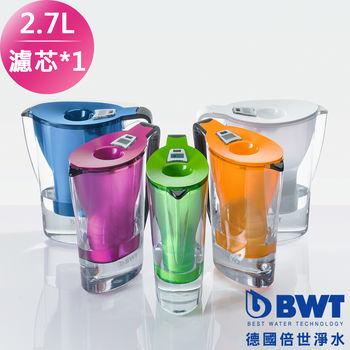 【BWT德國倍世】Penguin 2.7L濾水壺+Mg2+鎂離子濾芯*1(五色任選)