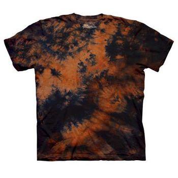 【摩達客】(預購)美國進口The Mountain純棉 橘藍雙色 環保藝術波紋底紮染T恤