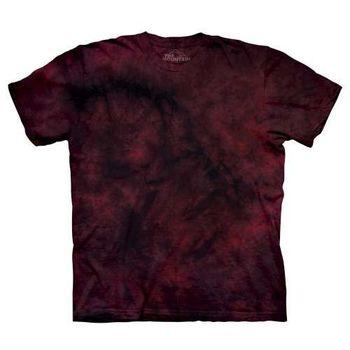 【摩達客】(預購)美國進口The Mountain純棉 黑紅雙色 環保藝術波紋底紮染T恤