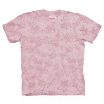 【摩達客】(預購)美國進口The Mountain純棉 康乃馨粉紅 環保藝術波紋底紮染T恤