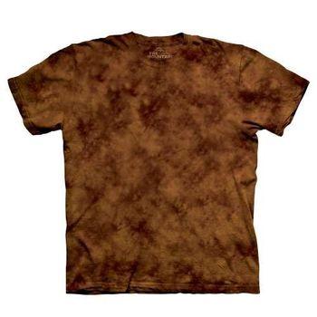 【摩達客】(預購)美國進口The Mountain純棉 松果褐 環保藝術波紋底紮染T恤