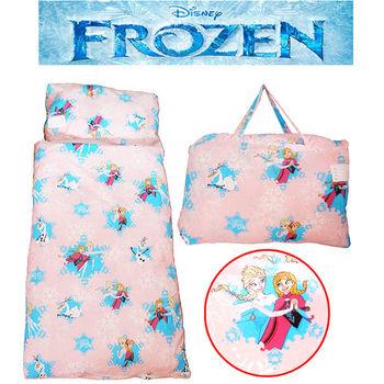 【冰雪奇緣】FROZEN舞動冰雪幼教兒童睡袋-粉紅