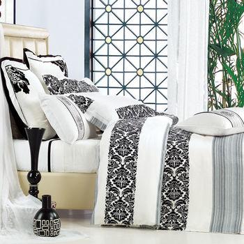 【Betrise格律】頂級雙人100%天絲TENCEL四件式鋪棉兩用被床包組