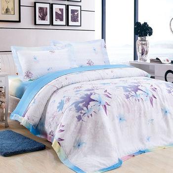 【Betrise竹韵染意】頂級雙人100%天絲TENCEL四件式鋪棉兩用被床包組