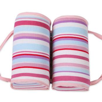 SANDEXICA嬰兒定型枕防側枕糾正偏頭-粉紅條紋