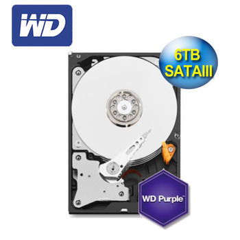 【WD 威騰】紫標 6TB 3.5吋 SATA Ⅲ硬碟 (WD60PURX)