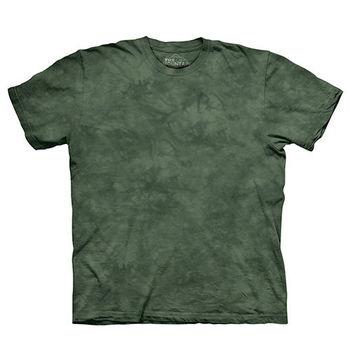 【摩達客】(預購)美國進口The Mountain純棉 針葉綠 環保藝術波紋底紮染T恤
