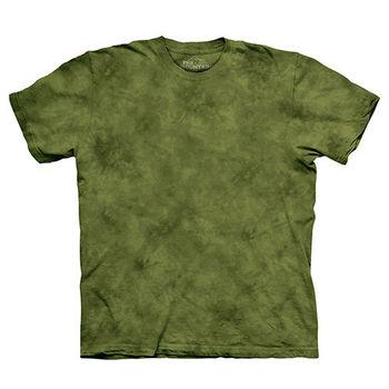 【摩達客】(預購)美國進口The Mountain純棉 松柏綠 環保藝術波紋底紮染T恤