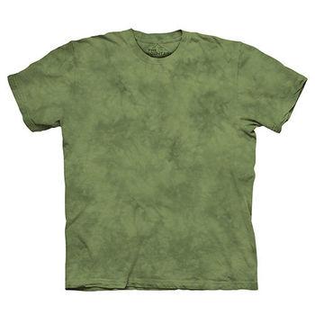 【摩達客】(預購)美國進口The Mountain純棉 青蛙綠 環保藝術波紋底紮染T恤