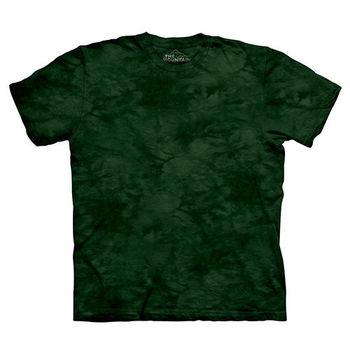 【摩達客】(預購)美國進口The Mountain純棉 巴爾森綠 環保藝術波紋底紮染T恤