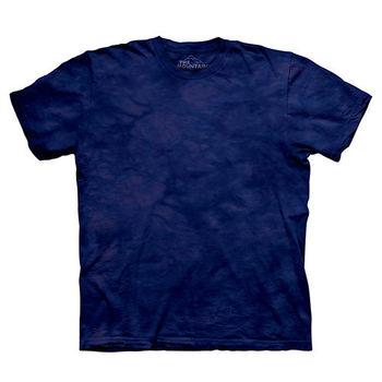 【摩達客】(預購)美國進口The Mountain純棉 拉皮斯藍紫 環保藝術波紋底紮染T恤
