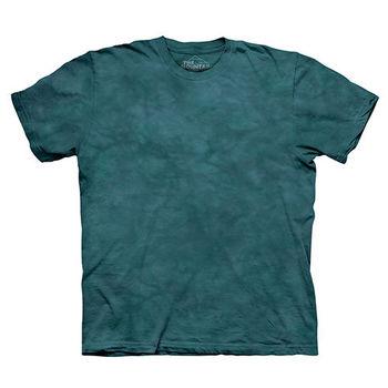【摩達客】(預購)美國進口The Mountain純棉 美洲杉綠 環保藝術波紋底紮染T恤