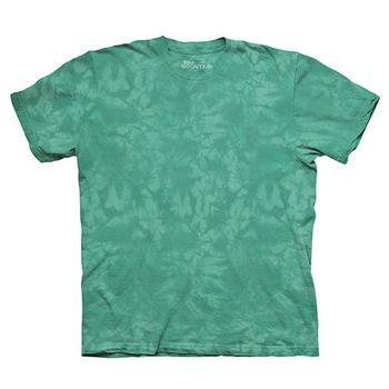 【摩達客】(預購)美國進口The Mountain純棉 湖水綠 環保藝術波紋底紮染T恤