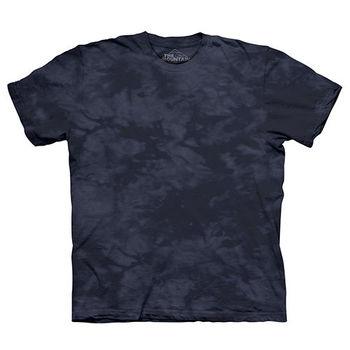 【摩達客】(預購)美國進口The Mountain純棉 深石藍灰 環保藝術波紋底紮染T恤