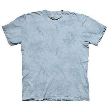 【摩達客】(預購)美國進口The Mountain純棉 泰勒淺灰 環保藝術波紋底紮染T恤