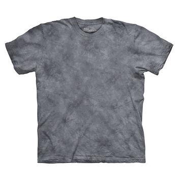 【摩達客】(預購)美國進口The Mountain純棉 煙燻灰 環保藝術波紋底紮染T恤