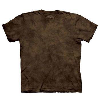 【摩達客】(預購)美國進口The Mountain純棉 克里夫蘭咖啡 環保藝術波紋底紮染T恤